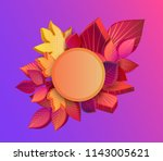 pink and purple spectrum round... | Shutterstock .eps vector #1143005621