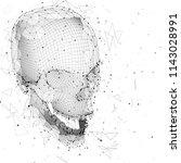 3d vector human skull of all... | Shutterstock .eps vector #1143028991