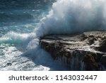 Large  Waves Crushing Shore...