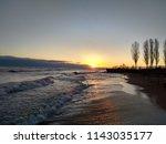 sea water beautiful sunrise...