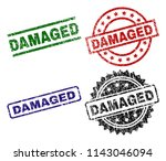 damaged seal prints with... | Shutterstock .eps vector #1143046094