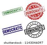 democratic seal prints with... | Shutterstock .eps vector #1143046097