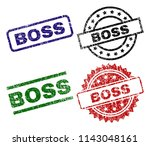 boss seal imprints with damaged ... | Shutterstock .eps vector #1143048161