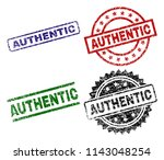 authentic seal prints with... | Shutterstock .eps vector #1143048254