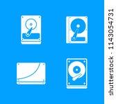 hard disk icon set. simple set... | Shutterstock . vector #1143054731