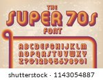a 1970s styled retro alphabet... | Shutterstock .eps vector #1143054887