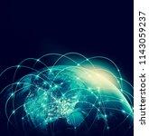 earth from space. best internet ...   Shutterstock . vector #1143059237