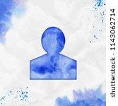 person of watercolor icon.... | Shutterstock .eps vector #1143062714