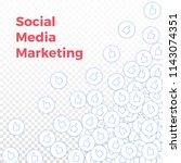 social media icons. social...   Shutterstock .eps vector #1143074351