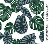 vector tropic seamless pattern. ... | Shutterstock .eps vector #1143076154
