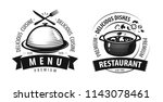 restaurant logo or label.... | Shutterstock .eps vector #1143078461