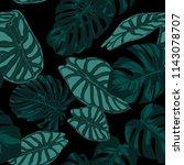 vector tropic seamless pattern. ... | Shutterstock .eps vector #1143078707
