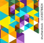 multicolored triangles abstract ... | Shutterstock .eps vector #1143078824