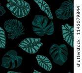 vector tropic seamless pattern. ... | Shutterstock .eps vector #1143079844