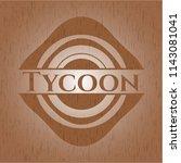 tycoon badge with wooden... | Shutterstock .eps vector #1143081041
