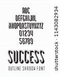 narrow font called success... | Shutterstock .eps vector #1143082934
