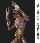 3d illustration blind demon... | Shutterstock . vector #1143088787