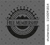 free membership black emblem | Shutterstock .eps vector #1143091814