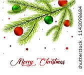 christmas greeting card with... | Shutterstock .eps vector #1143098684