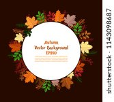 background with autumn leaves.... | Shutterstock .eps vector #1143098687