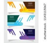 vector abstract design banner... | Shutterstock .eps vector #1143115067