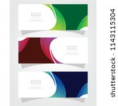 vector abstract design banner... | Shutterstock .eps vector #1143115304