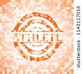 athlete orange mosaic emblem   Shutterstock .eps vector #1143117014