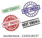 west virginia seal imprints... | Shutterstock .eps vector #1143118157