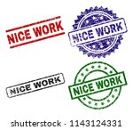 nice work seal prints with...   Shutterstock .eps vector #1143124331