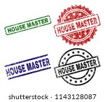 house master seal prints with... | Shutterstock .eps vector #1143128087