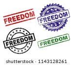 freedom seal prints with... | Shutterstock .eps vector #1143128261