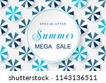 summer background with blue... | Shutterstock .eps vector #1143136511