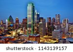 aerial view of downtown dallas  ... | Shutterstock . vector #1143139157