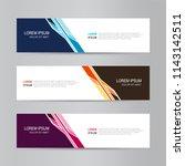 banner background. modern... | Shutterstock .eps vector #1143142511