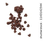 close up pile of chocolate... | Shutterstock . vector #1143142544