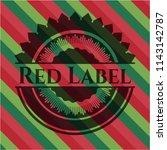 red label christmas emblem...   Shutterstock .eps vector #1143142787