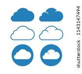 cloud logo vector set. blue... | Shutterstock .eps vector #1143147494