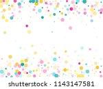 memphis round confetti airy...   Shutterstock .eps vector #1143147581