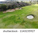 aerial view of pound on golf... | Shutterstock . vector #1143155927