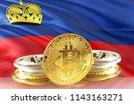 bitcoin coins on liechtenstein...   Shutterstock . vector #1143163271