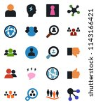 color and black flat icon set   ... | Shutterstock .eps vector #1143166421