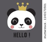 cute panda vector. can be used... | Shutterstock .eps vector #1143173501