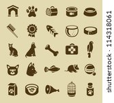Stock vector collection of pet care icons vector cats and dogs 114318061