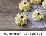 dahlia flower shaped butter... | Shutterstock . vector #1143187871