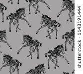 zebra vector seamless pattern...   Shutterstock .eps vector #1143191444