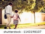 african american father and his ... | Shutterstock . vector #1143198107