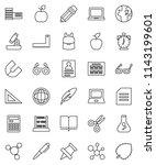 thin line vector icon set  ... | Shutterstock .eps vector #1143199601