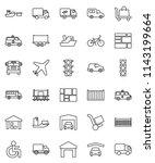 thin line vector icon set  ... | Shutterstock .eps vector #1143199664