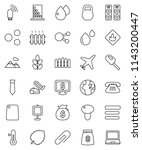 thin line vector icon set  ... | Shutterstock .eps vector #1143200447