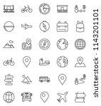 thin line vector icon set  ... | Shutterstock .eps vector #1143201101